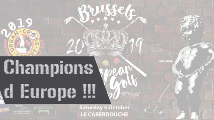 Champions d'Europe !